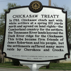 Chickasaw Treaty Historical Marker