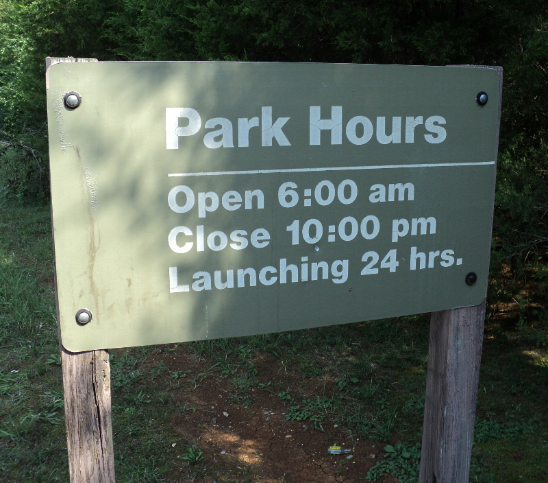 East Fork Recreation Area opens at 6 am and closes at 10 pm. The boat ramp is always open.