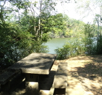 Some of the picnic tables have a view of Stones River.