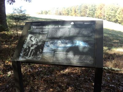 David Crockett Interpretive Panel