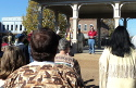 A longtime participant in the Lawrenceburg Trail of Tears Memorial Walk, State Senator Joey Hensley addresses the crowd.