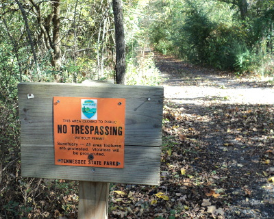 Public access to Mound Bottom is restricted to guided hikes conducted by park rangers.