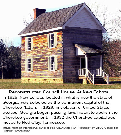 Cherokee National Council House At New Echota, Georgia