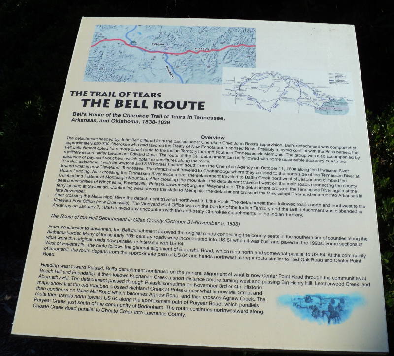 NATIVE HISTORY ASSOCIATION - Pulaski/Giles County Trail of