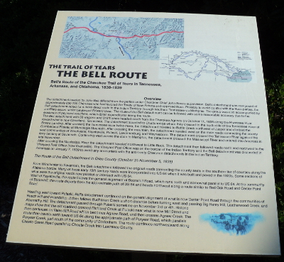 Bell's Route Interpretive Sign