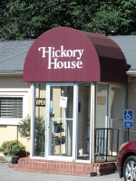 The Hickory House restaurant is practically right across the street.