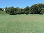 Pleasant Run Park has a big grassy area on the north side of Hwy 64