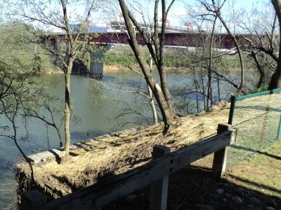 1823 Nashville Toll Bridge Abutment As Seen From Sidewalk Along Gay Street Connector