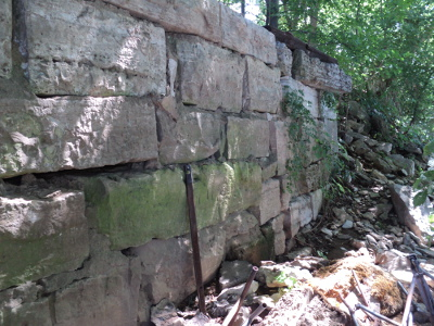1823 Nashville Toll Bridge abutment