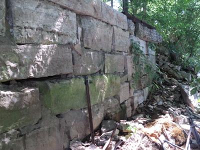 1823 Nashville Toll Bridge abutment